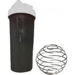 Шейкер спортивний Shake Bottle 700 мл. з вінчиком Чорно-Білий
