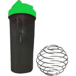 Шейкер спортивний Shake Bottle 700 мл. з вінчиком. Чорно-зелений