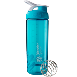 Спортивная бутылка-шейкер BlenderBottle SportMixer Sleek Promo 820ml Aqua (ORIGINAL)