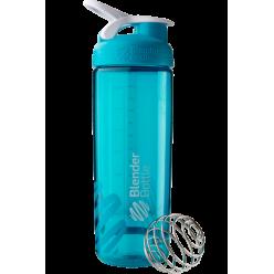 Спортивная бутылка-шейкер BlenderBottle SportMixer Sleek Promo 820ml Aqua (ORIGINAL)