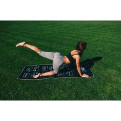 Килимок для фітнесу і йоги складний PowerPlay 4013 (180*60*0.6) Чорний