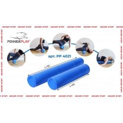 Ролик для йоги і пілатес PowerPlay 4021 90*15см. Синій