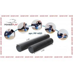 Ролик для йоги і пілатесу PowerPlay 4021 (60*15см) Чорний