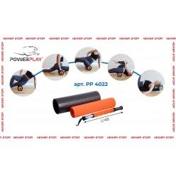 Йога ролер набір 3 в 1 PowerPlay 4022 Чорно-Помаранчевий