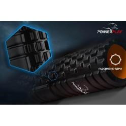 Масажний ролик PowerPlay 4025 Чорно-Оранжевий