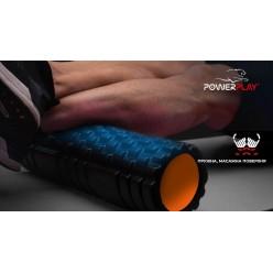 Масажний ролик PowerPlay 4025 Чорно-Помаранчевий