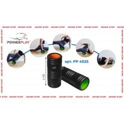Масажний ролик PowerPlay 4025 Чорно-Зелений.