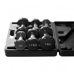 Набір гантелей в кейсі 9 кг. PowerPlay 4121