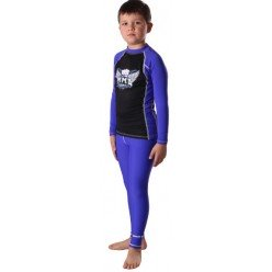 Штаны компрессионные BERSERK ММА KIDS blue