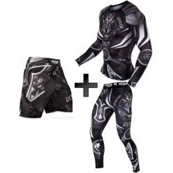 Шорты Venum Gladiator 3.0 Fightshorts - black/white
