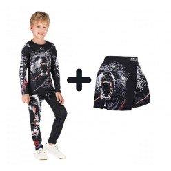 Комплект 2в1 компрессионный детский Cody Lundin Grizzli
