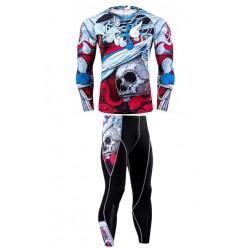 Компрессионные штаны Abstract Skull