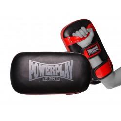Паді для тайського боксу PowerPlay 3064 Чорно-Червоні Шкіра [пара]
