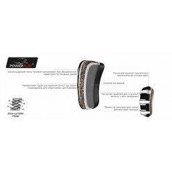 Пади для тайського боксу PowerPlay 3064 Чорно-Червоні Шкіра [пара]