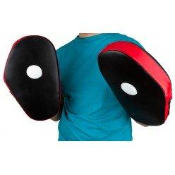 Боксерські Лапи PowerPlay 3063 Чорно-Червоні Шкіра [пара]