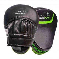 Боксерські Лапи PowerPlay 3041 Чорно-Зелені PU [пара]