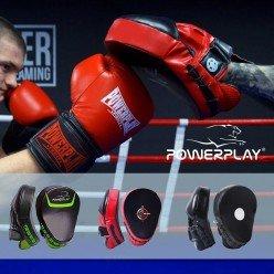 Боксерські Лапи PowerPlay 3041 Чорні PU [пара]