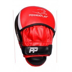 Боксерські Лапи PowerPlay 3050 Чорно-Червоні PU [пара]