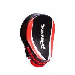 Лапи боксерські PowerPlay 3050 Чорно-Червоні PU [пара]