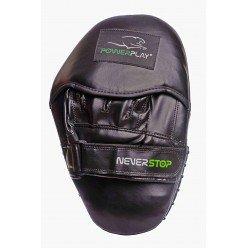 Боксерські Лапи PowerPlay 3051 Чорно-Зелені PU [пара]