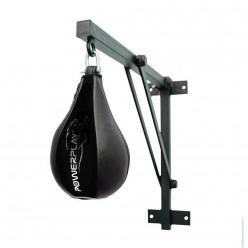 Пневмогруша боксерська PowerPlay 3061 чорна, шкіра, M