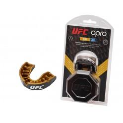 Капа OPRO Junior Gold UFC Hologram Black Metal/Gold (art.002266001)