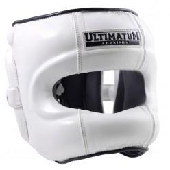 Шлем бамперный с защитой Ultimatum Boxing (Gen3FaceBar White Force)