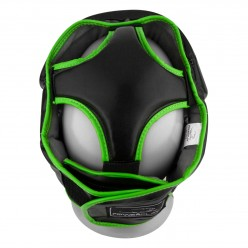 Боксерський шолом тренувальний PowerPlay 3068 PU + Amara Чорно-Зелений XS