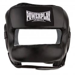 Боксерський шолом тренувальний PowerPlay 3067 з бампером PU + Amara Чорний S