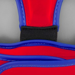 Боксерський шолом тренувальний PowerPlay 3068 PU + Amara Червоно-Синій S