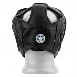 Боксерський шолом тренувальний PowerPlay 3066 PU + Amara Чорний L
