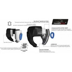 Боксерський шолом тренувальний PowerPlay 3065 Чорний L/XL