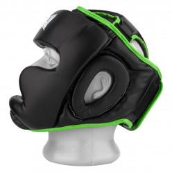 Боксерський шолом тренувальний PowerPlay 3068 PU + Amara Чорно-Зелений S