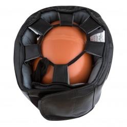 Боксерський шолом тренувальний PowerPlay 3067 з бампером PU + Amara Чорний L