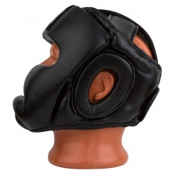 Боксерський шолом тренувальний PowerPlay 3066 PU + Amara Чорний M