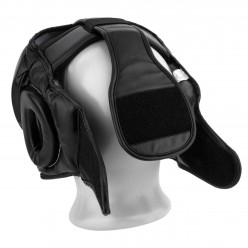 Боксерський шолом тренувальний PowerPlay 3066 PU + Amara Чорний XL