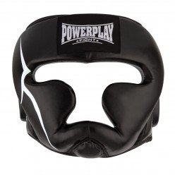Боксерський шолом тренувальний PowerPlay 3066 PU + Amara XL Чорний