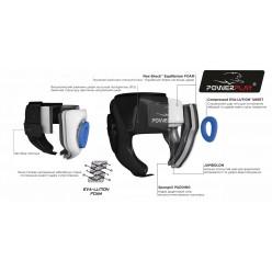 Боксерський шолом тренувальний PowerPlay 3068 PU + Amara Синьо-Білий M