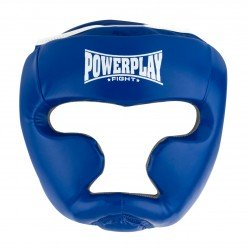 Боксерський шолом тренувальний PowerPlay 3068 PU + Amara Синьо-Білий S